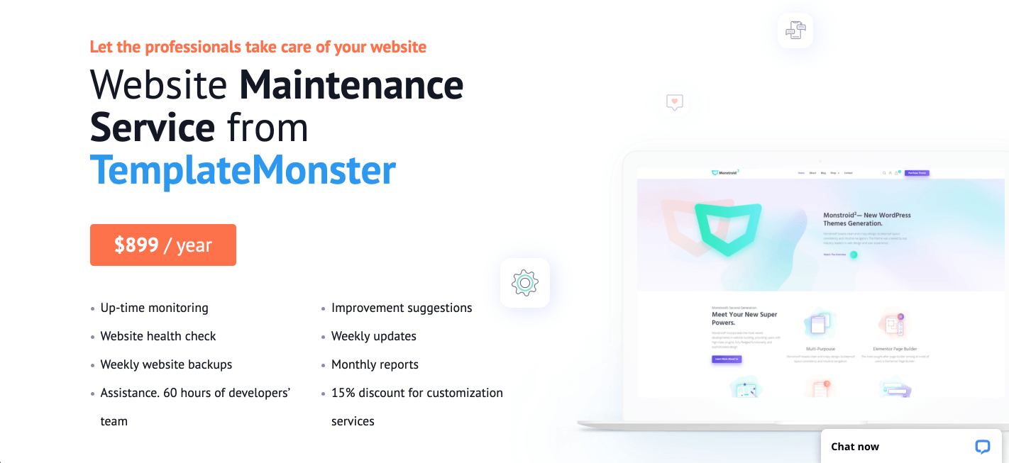 WordPress Maintenance Services & Support by TemplateMonster