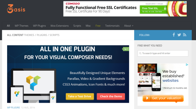 w3oasis Nulled premium wordpress themes plugins woocommerce extensions and php scripts