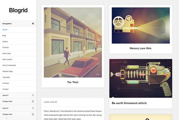 blogrid pinterest style wordPress theme