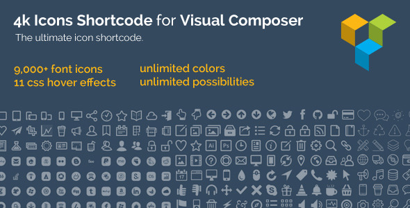 4k Icon Fonts for Visual Composer
