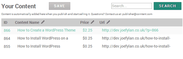 CoinTent Control Panel Pricing