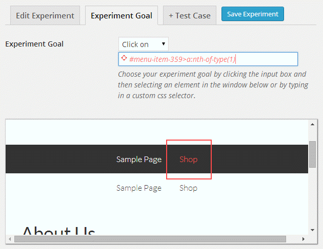 Experiments Review - Set Click on Goal