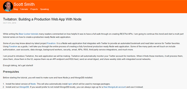 Twitatron: Building a Production Web App with Node