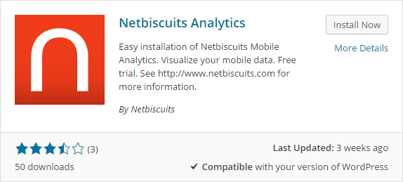 Netbiscuits Mobile Analytics review install the plugin