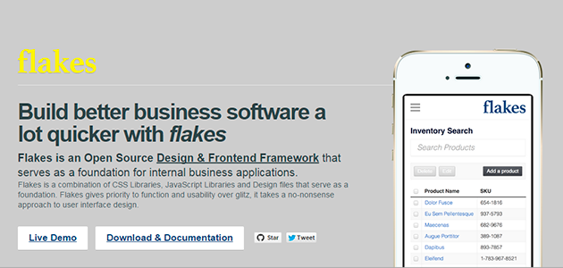 Flakes: Admin UI and Template Framework