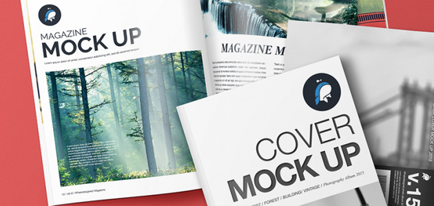 Magazine and Cover Mockups