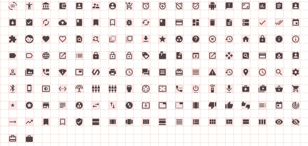 Material Design Icons with Bounds