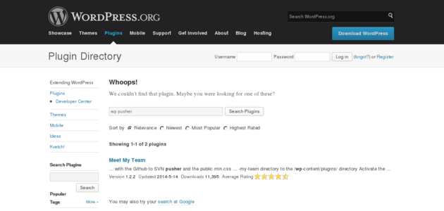 WordPress › WP Pusher « WordPress Plugins