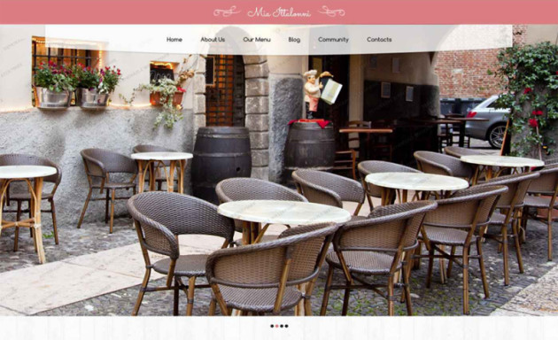 Free Responsive WordPress Restaurant Theme