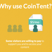 CoinTent - An Easy Way to Paywall Quality Content
