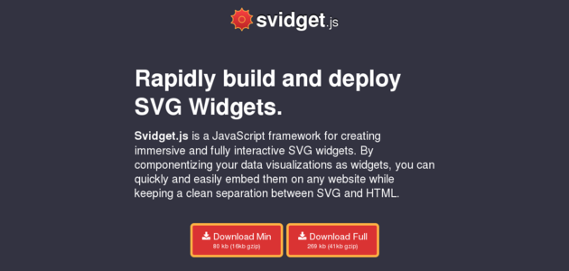 Svidget.js: JavaScript Framework for Building SVG Widgets
