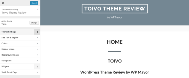 toivo-theme-customization
