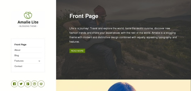 Amalie Lite: Beautiful Free Image-focused WordPress Theme