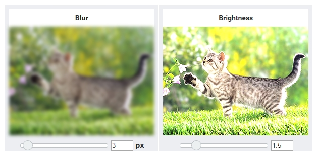 CSS Filter Effects Online Generator
