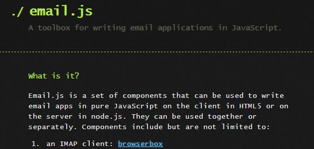 Email.js: Open Source JavaScript  Email Applications Toolbox