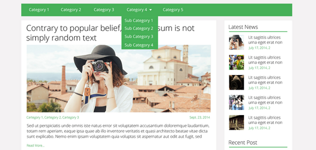 Flatly: Flat Blogging Multi-column WordPress Theme