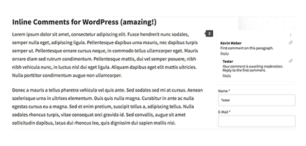 Inline Comments: Medium-like Side Comments WordPress Plugin