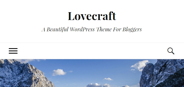 Lovecraft: Simple Blogging Two-Column Layout WP Theme