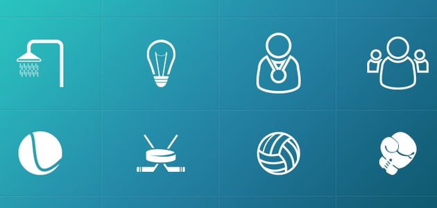 Multiple Sports Flat Icons Pack