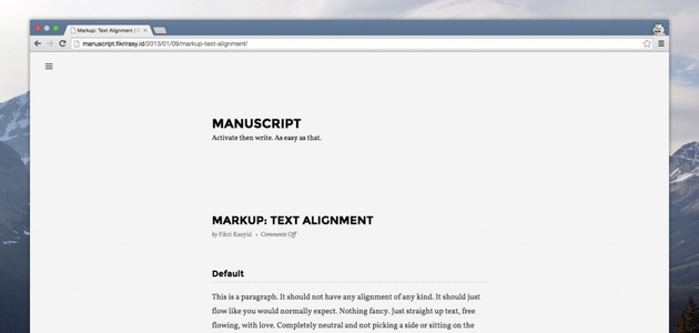 Parchment: Writing-Focused One-Column Layout WordPress Theme