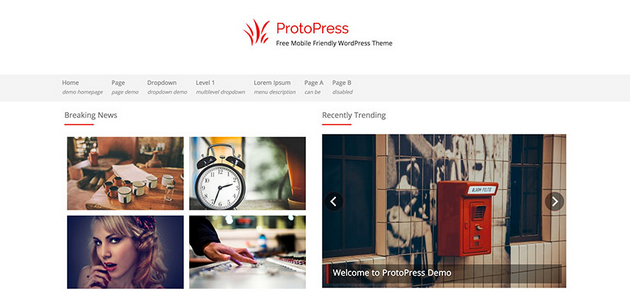 ProtoPress: Cool Essential News WordPress Theme