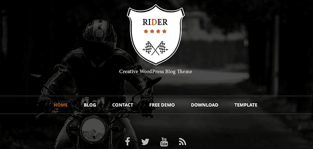 Rider: Lightweight, Fast Bootstrap Based Responsive WP Theme