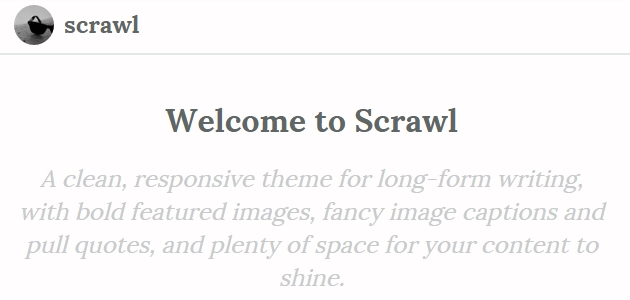 Scrawl: Beautiful Writting-Focused WordPress Theme