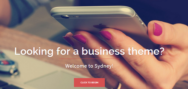 Sydney: Big Featured Image WordPress Theme