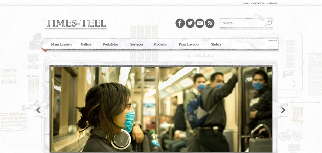 Times Teel: Clean News WordPress Theme