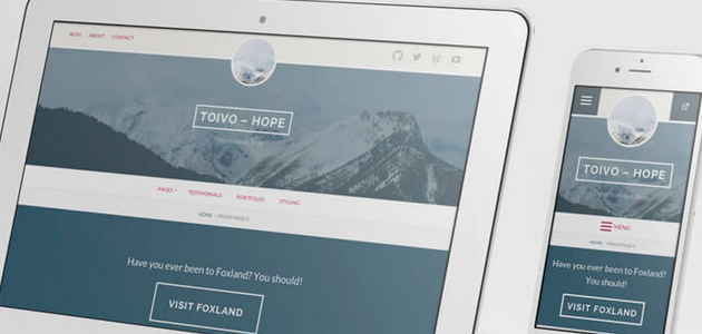 Toivo: Business and Blogs WordPress Theme
