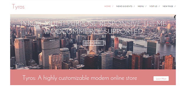 Tyros: WooCommerce Supportive Minimal WordPress Plugin