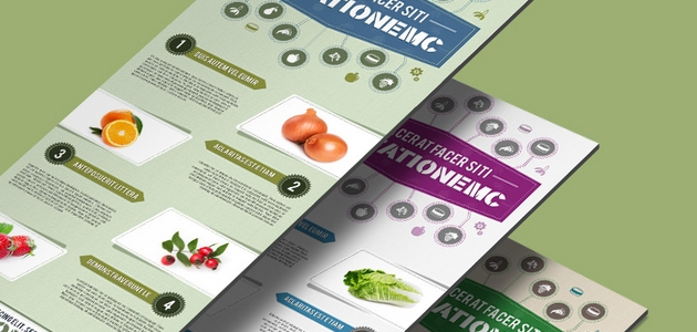 A Free Food-themed PSD Infographics Template