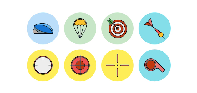 Free Responsive Multi-style Vector Sports Icon Set