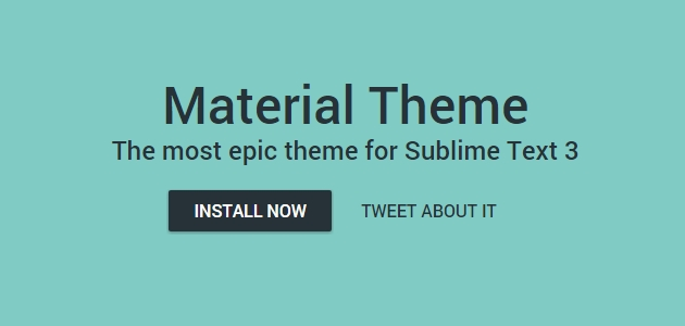 Material Sublime Text 3 Customizing Theme