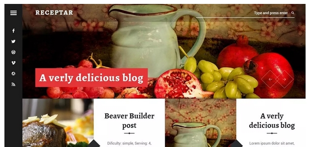 Receptar: Stylish Restaurant WordPress Theme