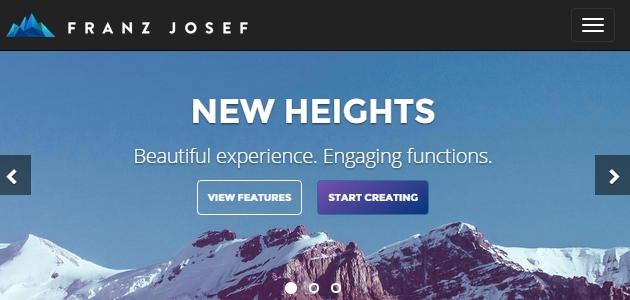 Franz Josef : Minimal Multi-page WordPress Theme