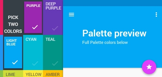 Material Design Color Palette Stylizer