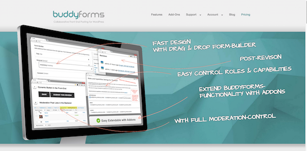 WordPress Forms Plugin Builder for Frontend Publishing CMS-1