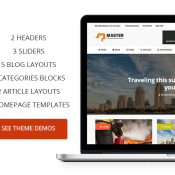 Master: Premium Theme For Blogs and Magazines