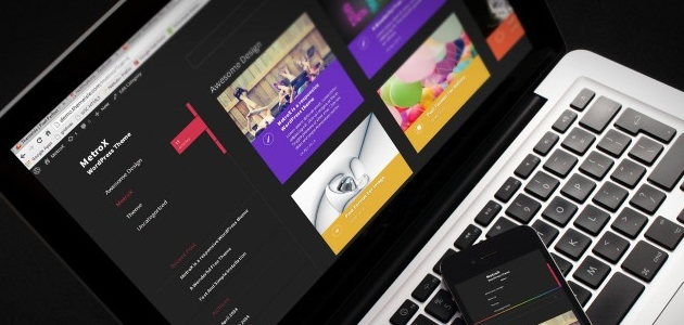 MetroX: Dark Left Sidebar WordPress Theme