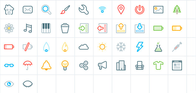Bitsies: 140 Line Icons Set