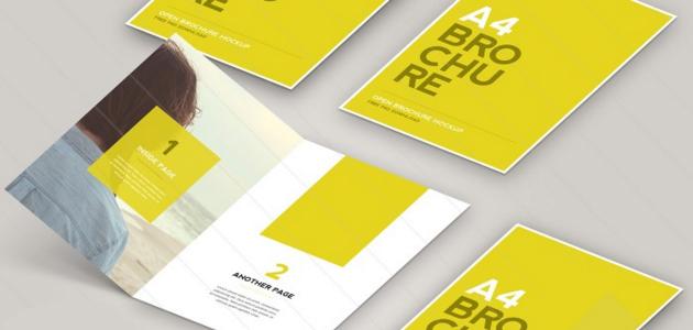Flat Brochure A4 PSD Mockups