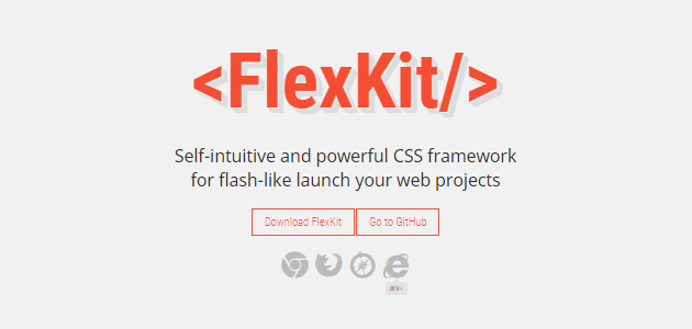FlexKit: Self-intuitive CSS Framework