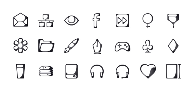 Inkallicons: Ink Line Vector Icons