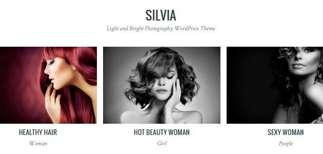 Silvia: Clean Fashion Photography WordPress Theme