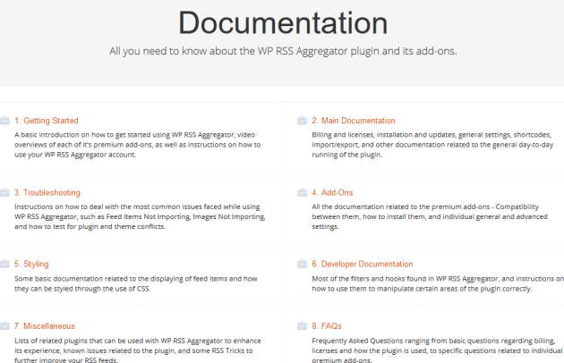 WP RSS Aggregator Documentation