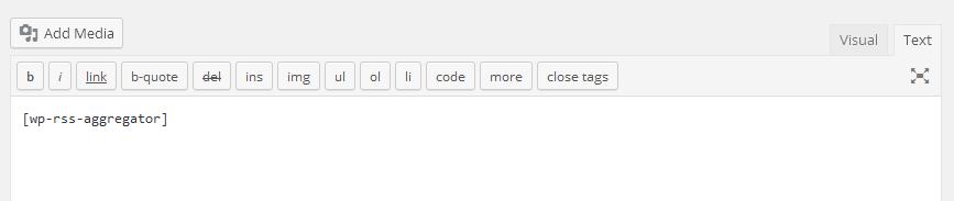 WP RSS Aggregator Shortcode