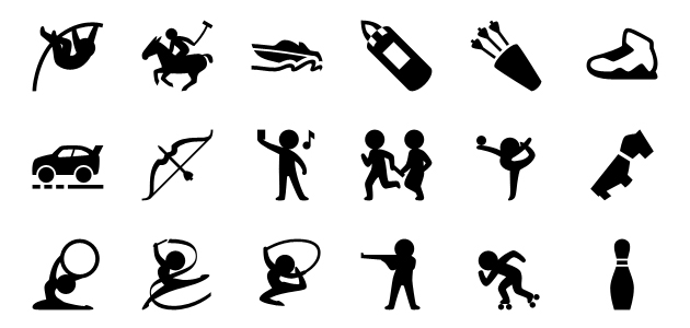 5800 Filled Sports Vector Icons for iPhone