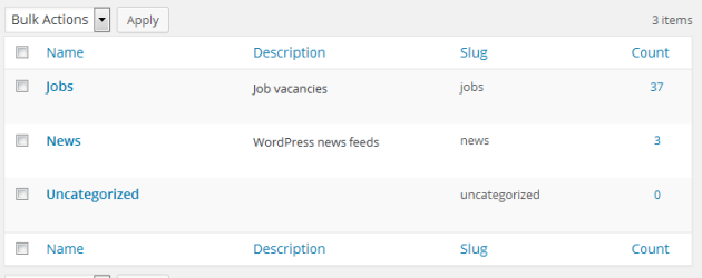 WP RSS Aggregator Categories AddOn
