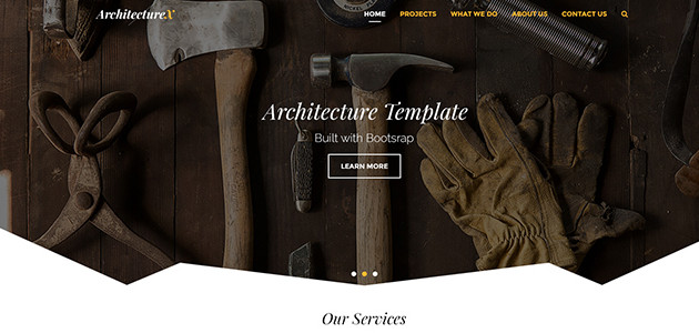 ArchitectX: Multi Style Dark PSD Template